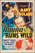 "Movie Posters:Comedy, Mama Runs Wild (Republic, 1937). Folded, Fine/Very Fine. One Sheet (27"" X 41""). Comedy.. ..."