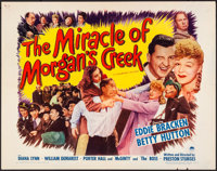 "The Miracle of Morgan's Creek (Paramount, 1944). Folded, Very Fine-. Half Sheet (22"" X 28"") Style A. Comedy..."