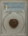 1919 1C Lincoln Cent -- Doubled Struck, Second Strike 25% Off Center -- AU55 PCGS Gold Shield