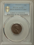 1957 1C Lincoln Cent -- Doubled Struck & Rotated In Collar -- AU53 PCGS Gold Shield