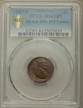 1917-S 1C Lincoln Cent -- Struck 15% Off Center -- MS63 Brown PCGS Gold Shield