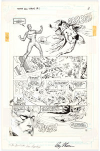 Vince Argondezzi and Malcolm Jones III Young All-Stars #1 Page 3 Green Lantern, Hawkman, and The Spectre Original