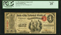 National Bank Notes:Pennsylvania, Pittsburgh, PA - $1 Original Fr. 380a The Iron City NB Ch. # 675 PCGS Very Fine 25.. ...
