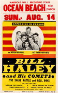 """Music Memorabilia:Posters, Bill Haley and His Comets Summer 1955 Concert Poster w/""""Rock Around the Clock"""".. ..."""