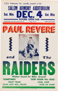 """Music Memorabilia:Posters, Paul Revere & The Raiders 1965 Concert Poster Upon the Release of """"Just Like Me"""".. ..."""