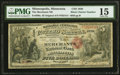 National Bank Notes:Minnesota, Minneapolis, MN - $5 Original Black Charter Number Fr. 399 The Merchants National Bank Ch. # 1830 PMG Choice Fine 15....