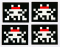 Collectible:Contemporary, Invader (French, b. 1969). Group of Four Glow in the Dark Stickers, 2014. Offset lithographs with adhesive backing. 1-5/...