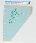Explorers:Space Exploration, Neil Armstrong's Handwritten Flight Notes Directly From The Armstrong Family Collection™, CAG Certified....