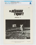 "Explorers:Space Exploration, NASA ""Mission Report - Apollo 11"" Directly From The Armstrong Family Collection™, CAG Certified...."