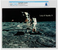 "Explorers:Space Exploration, NASA ""Log of Apollo 11"" Booklet Directly From The Armstrong Family Collection™, CAG Certified...."