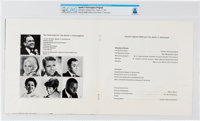Apollo 11: Extravaganza Program Directly From The Armstrong Family Collection™, CAG Certified