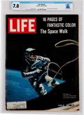 "Explorers:Space Exploration, Neil Armstrong's Personal Copy of the June 18, 1965, LIFE Magazine, ""16 Pages of Fantastic Color- The Space Wa..."