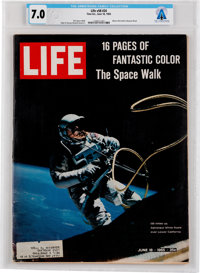 "Neil Armstrong's Personal Copy of the June 18, 1965, LIFE Magazine, ""16 Pages of"