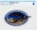 Explorers:Space Exploration, Patches: X-15 Commemorative Patch with Pilots' Names Directly From The Armstrong Family Collection™, CAG Certified. ...