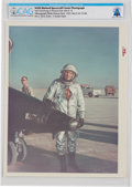 "Explorers:Space Exploration, X-15: Original NASA ""Red Number"" Color Photo of Neil Armstrong in Pressure Suit with X-15, 1963, Directly From The Armstro..."