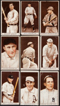 Baseball Cards:Lots, 1912 T207 Recruit Little Cigars Collection (9). ...