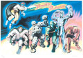 Memorabilia:Comic-Related, Jack Kirby Power Planet Signed Limited Edition Lithograph Print #199/250 (Ruby-Spears, c. 1980s)....