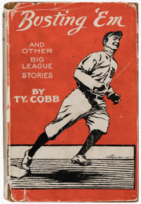 1914 Busting 'Em by Ty Cobb Hardcover Book with Rare Dust Jacket