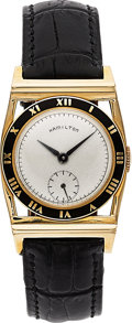 Timepieces:Wristwatch, Hamilton, Piping Rock, 14K yellow Gold, Manual Wind, Second Edition, Circa 1948. ...