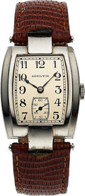Timepieces:Wristwatch, Hamilton, Mount Vernon, Scarce Model, 14K White Gold Fille...