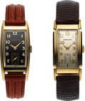 Timepieces:Wristwatch, Two Rare Hamilton Wristwatches, Dickens and Yorktowne, 14K...