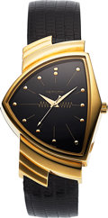 Timepieces:Wristwatch, Hamilton, Limited Edition Ventura Reissue, 18K Yellow Gold...