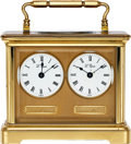 Timepieces:Clocks, L'Epee France, Small Dual Time Zone Clock, circa 1950's. ...