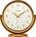 Timepieces:Clocks, Cartier 8 Day Alarm Clock, circa 1950's. ...