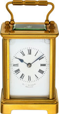 Timepieces:Clocks, French Time & Strike Carriage Clock For Tilden Thurber Providence, circa 1900. ...