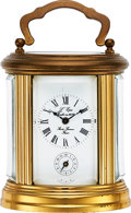 Timepieces:Clocks, L'Epee France, Small Oval Clock With Alarm, circa 1950's. ...