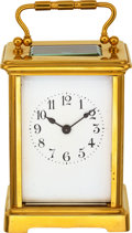 Timepieces:Clocks, Harris & Harrington Gilt Brass Carriage Clock, circa 1910. ...