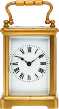 Timepieces:Clocks, French Small Brass Carriage Clock, circa 1900. ...