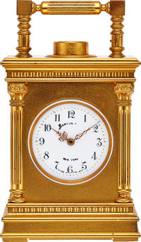French Minute Repeating Clock For Marcus & Co. New York, circa 1900
