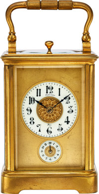 Perrineau, French, Quarter Hour Repeating & Striking Carriage Clock With Alarm, circa 1885