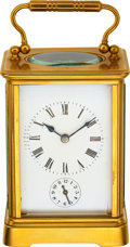 Timepieces:Clocks, French Gilt Brass Carriage Clock With Alarm, circa 1890. ...