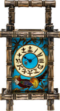 Timepieces:Clocks, French Rare Cloisonne Enameled Clock For The Chinese Market, circa 1890. ...