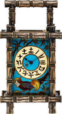 French Rare Cloisonne Enameled Clock For The Chinese Market, circa 1890