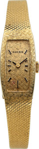 Timepieces:Wristwatch, Rolex Lady's 14k Gold Bracelet Watch. ...