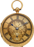 Timepieces:Pocket (pre 1900) , John Forrest London 18k Gold Lever Fusee. ...