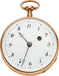 Swiss Gold Quarter Hour Repeater, Verge Fusee, circa 1840's