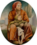 Fine Art - Painting, American, Attributed to Lorser Feitelson (1898-1978) and Nathalie Ne...