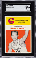 Basketball Cards:Singles (Pre-1970), 1961 Fleer Jerry West #43 SGC 96 Mint 9 - Pop One, None Higher! ...