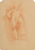 Works on Paper:Drawing, Italian School (19th Century). Group of Two Drawings. Chalk on paper, each. 11-5/8 x 8-1/4 inches (29.5 x 21 cm) (larges... (Total: 2 Items)
