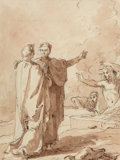 Works on Paper:Drawing, Giuseppe Manno (Italian, 1786-1868). Dante and Virgil. Ink and pencil on paper. 11-5/8 x 8-5/8 inches (29.5 x 21.9 cm) (...