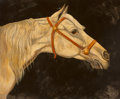 Fine Art - Painting, American, William Skilling (American/British, b. 1940). White Horse.Oil on canvas. 30 x 36 inches (76.2 x 91.4 cm). Signed lower ...