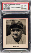 Baseball Cards:Singles (1940-1949), 1947 W602 Sports Exchange Babe Ruth PSA NM-MT 8 - Only Two...