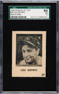 Baseball Cards:Singles (1940-1949), 1948 R346 Blue Tint Lou Gehrig (Black & White) #29 SGC 84 NM 7....