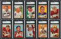 Football Cards:Lots, 1952 Bowman Large Football SGC Graded Collection (10)....