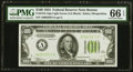 Fr. 2152-A $100 1934 Light Green Seal Federal Reserve Note. PMG Gem Uncirculated 66 EPQ