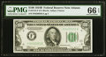 Small Size:Federal Reserve Notes, Fr. 2154-F $100 1934B Federal Reserve Note. PMG Gem Uncirculated 66 EPQ.. ...